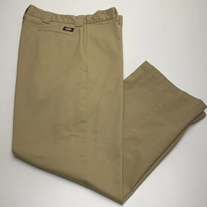 DICKIES Mens 38 x 32 Relaxed Straight Work Khakis
